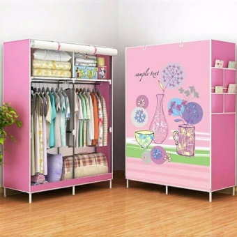 Empire RB-8802 DIY Panoramic Pattern 3D Wardrobe Closet Clothes Organizer (Flowers)