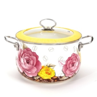 enamel cooking pot casserole stew pot cooking pan 20cm 3litre -Intl