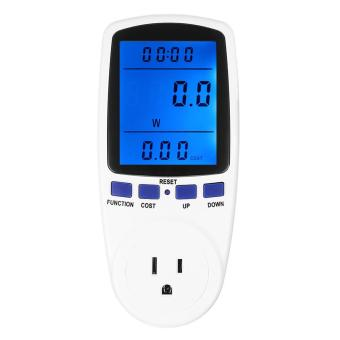 Energy Meter Watt Voltage Electricity Monitor with Blue Backlight US Plug - intl