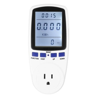 Energy Meter Watt Voltage Electricity Monitor with White BacklightUS Plug - intl