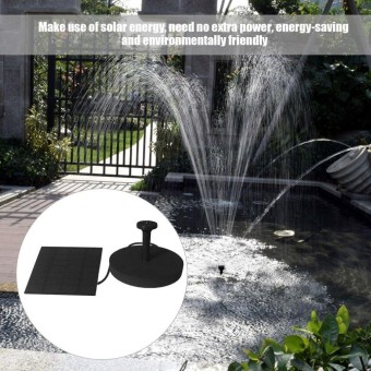 ERA Solar Powered Water Fountain Pump Kits Floating Pump ForOutdoor Watering Black - intl