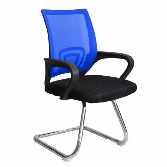 Ergodynamic EGC-P2 BLU Mesh Guest Chair , Chrome Sled Base (Blue) Price Philippines