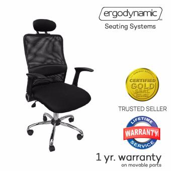 Ergodynamic EHB-83B Mesh Back Office Chair (Black)