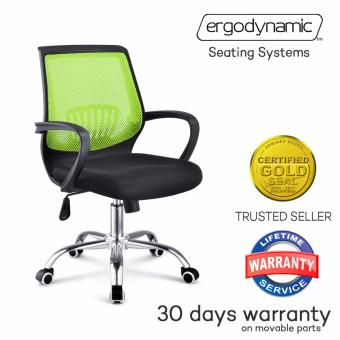 Ergodynamic EMC-P17 GRN Tilting Mesh Office Chair (Green)