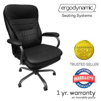 Ergodynamic SUMO Faux Leather High Back Office Chair, ExecutiveChair, Desk Chair (Black)
