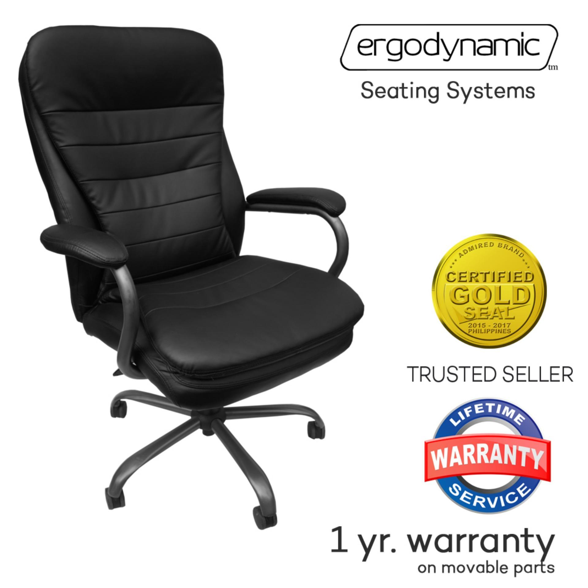 Erynamic Sumo Faux Leather High Back Office Chair Executivechair Desk Black