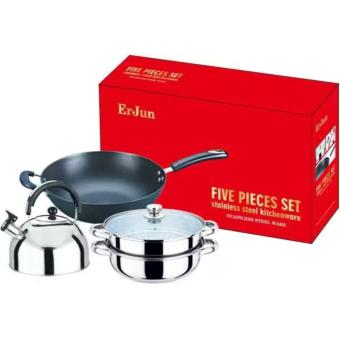 ErJun Five Pieces Set Stainless Steel Kitchenware