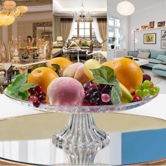 EsoGoal Acrylic Plate for Fruits Cakes Desserts Candy Buffet Stand for Home & Party with Free 50pcs Fruit Forks - intl - 2