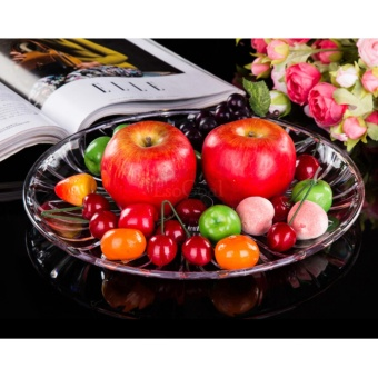 EsoGoal Acrylic Plate for Fruits Cakes Desserts Candy Buffet Stand for Home & Party with Free 50pcs Fruit Forks - intl - 5
