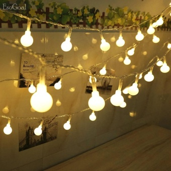 EsoGoal Globe String Light LED Starry Fairy Light,Indoor Outdoor Ball Bulbs Christmas Decorative Warm White Light for Garden Wedding Xmas Party 13feet/4meters - intl