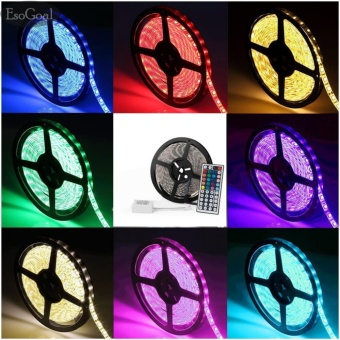 EsoGoal LED Strip Light Kit 600 LEDs Flexible 3528 RGB Color Lighting Changing Lighting Lamp with 44Key Remote Control(10m) - intl