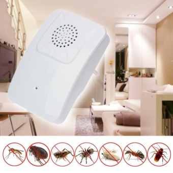 EU Plug Ultrasonic Pest Bug Cockroach Control Repeller Rat Mosquito Killer - intl
