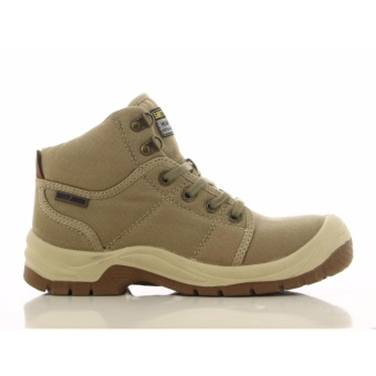 [EU SIZE 43] Safety Jogger Desert Steel Toe Cap and Steel Midsole Safety Shoes (Khaki)