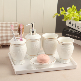 European ceramic bathroom cups cup