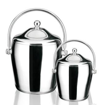 European stainless steel portable with lid insulated ice bucket