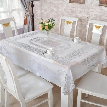 European Style Insulated pvc Table Cloth Anti-slip RectangleKitchen Tea Table Tablecloth Waterproof Oilproof Flower Covers forTable Home Party 130*180cm - intl
