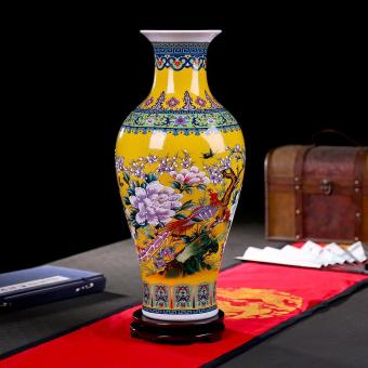 European-style Large Porcelain Floor Vase