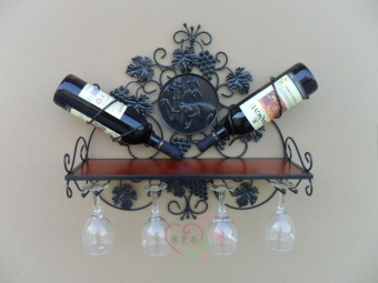 European wall hangers restaurant Grape Wine Rack bottle rack