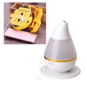 Extension Wire Cord with USB Socket 180CM Length (Yellow) WithEUADMH01 Electric Ultrasound Atomization Diffuser Cool MistHumidifier (White)