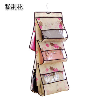 Extra-large five layer transparent window bag storage hanging bag