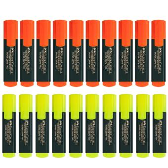 Faber Castel Highlighter Set of 20 10 Yellow & 10 Orange Price Philippines