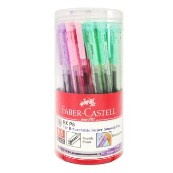 Faber-Castell RX P5 Pastel (Black Ink) 30pcs/tube Price Philippines