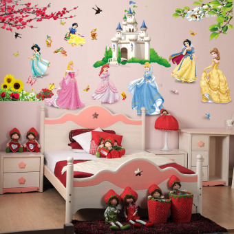 Fairy tale World Childrens bedroom bedside girl women sticker wall stickers Home Décor Wall Stickers Decals