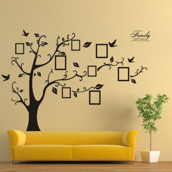 Family Tree Bird Wall Sticker Photo Picture Frame Removable Decal Home Art Decor