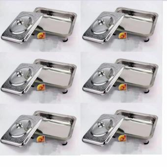 Fancy Stainless Steel Food Tray Serving Dish Set of 6