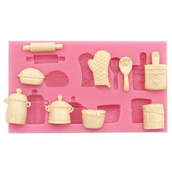 Fang Fang Useful Baking Tool Silicone Cake Mold 3D Fondant Cake Decorating Tool Fondant Cake Mould