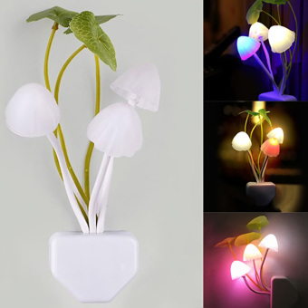 Fantastic Mushroom Light Sense Control Led Night EU Adapter Wall Lamp HKG