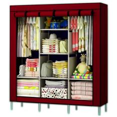 Fashion Clothes Wardrobe Storage Cabinet Dust Cover (Red)