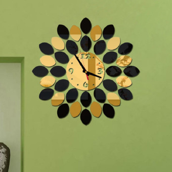 Fashion creative living room wall clock mute wall clock (Gold) Price Philippines