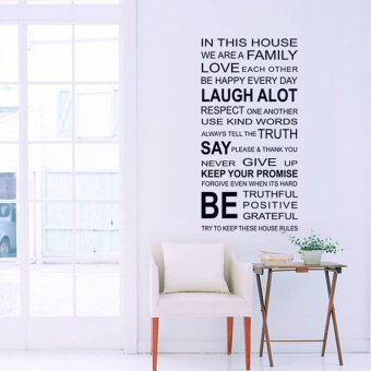 Fashion Design Family English Quote Proverbs Wall Stickers Room Art Decor Removeable Decals DIY