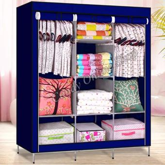Fashion Large Size Quality Multifunctional Wardrobe Storage Lockers 88130(Blue)