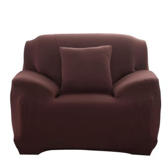 Fashion Slipcover Stretchable Pure Color Sofa Cushion Cover (Chair Coffee) - intl