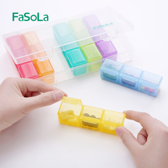 Fasola portable storage seperated Medicine box portable small medicine box