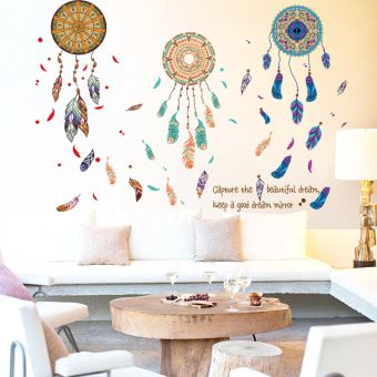 Feather living room entrance wall sticker wall stickers