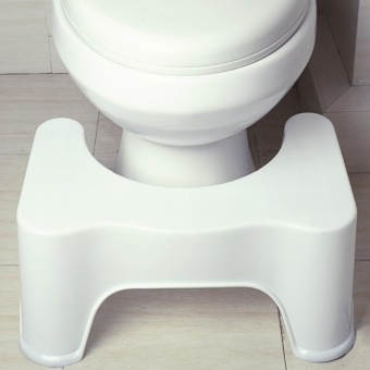 Feng Sheng Health Bathroom Toilet Stool Squatty Step Stool Bathroom Potty Squat Aid For Constipation Piles Relief White - intl