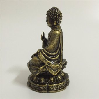... Feng Shui Buddha Statue For Home Office Decoration Bronze ShakyaMuni Buddha  Statue Handicraft - intl ...