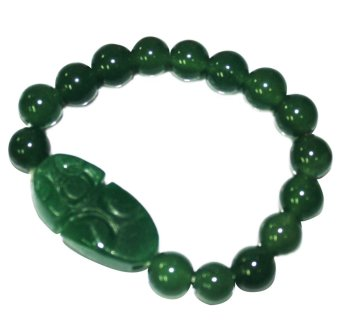 Feng Shui Money Catching Lucky Charm Bracelet (Dark Green)