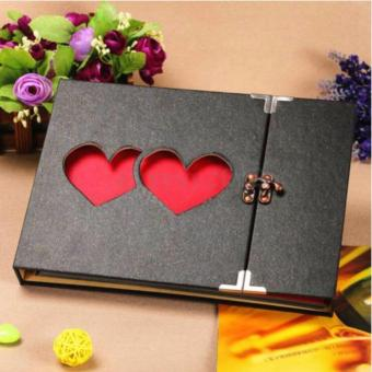 Fengsheng Hollowed Heart Love Photo Image Album Scrapbook DIY CraftGift Anniversary - intl