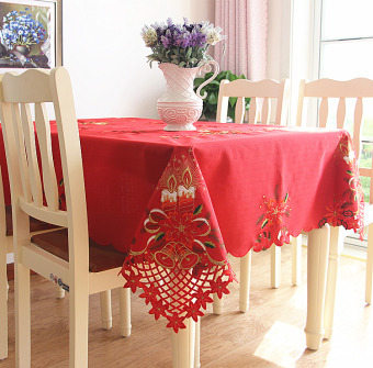 Festive christmas Hong birthday party tablecloth dining table cloth