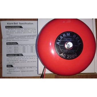 Fire Alarm Bell 6in 220V