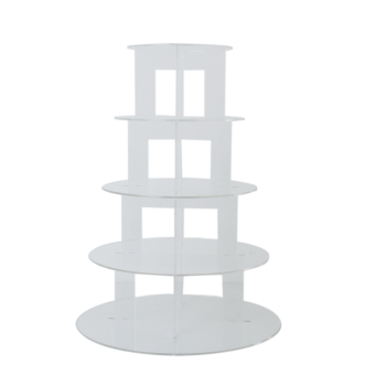 Five Tier Clear Hard Acrylic Round Cupcake Stand Wedding PartyDisplay