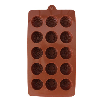 Five With Four Different Flowers Chocolate Mould Cake Mold IceLattices - 5