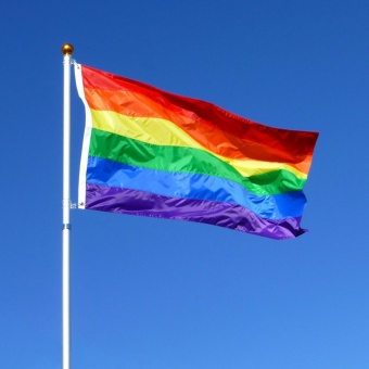 Flag, 5ft x 3ft, Rainbow