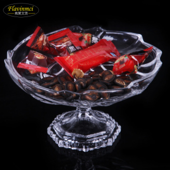 Flavinmci high European striped fruit bowl dried fruit bowl