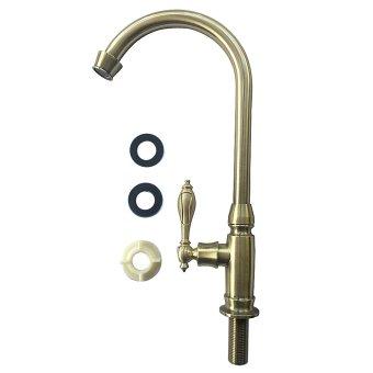 FLEXCO FC-7012 Retro Classic Kitchen Faucet (Gold) - 4