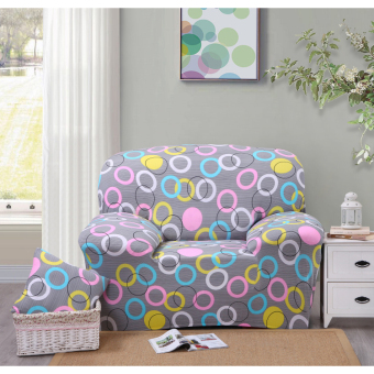 Floral Series Spandex Stretch Fitted Sofa Case Cover For 1 Seater intl